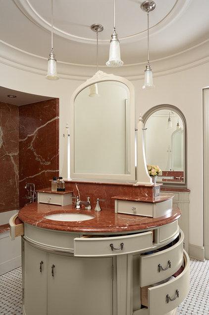 Traditional Powder Room by David Heide Design Studio