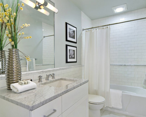 Chair Rail Tile Design Ideas Remodel Pictures Houzz