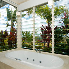 Tropical Bathroom by SBT Designs