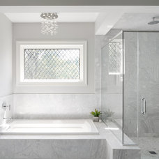 Transitional Bathroom by Summit Signature Homes, Inc.