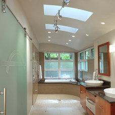 Contemporary Bathroom by Gilday Renovations Design Build