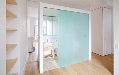 10 soluciones originales para baños (muy) pequeños