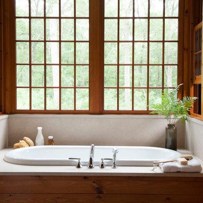Mountain style drop-in bathtub photo in Bridgeport