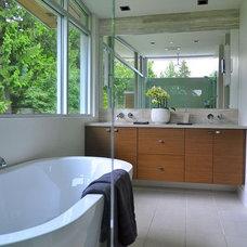 Contemporary Bathroom by Werner Construction Ltd.