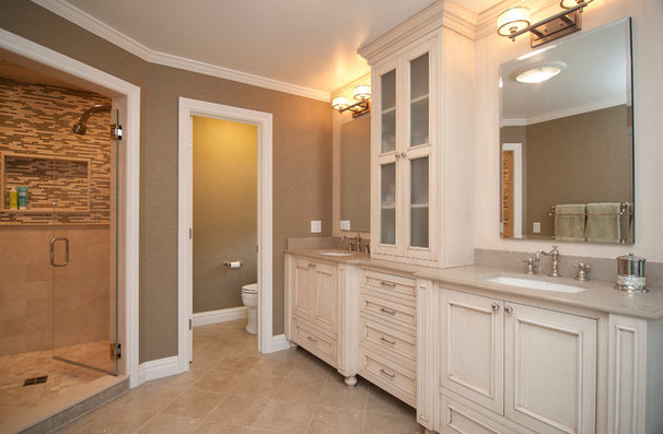 Traditional Bathroom by Sunrise Building & Remodeling Inc