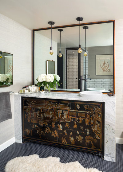 Eclectic Bathroom by Andrea Schumacher Interiors