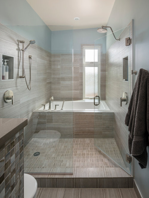 5Ft X 8Ft Bathroom Design Ideas, Remodels & Photos with an Alcove Tub