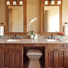 Rustic Bathroom by Rohde Design Inc.