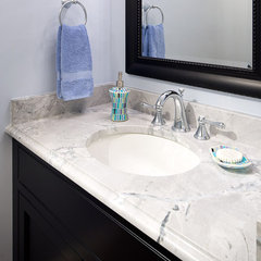 modern bathroom Super White Quartzite Vanity