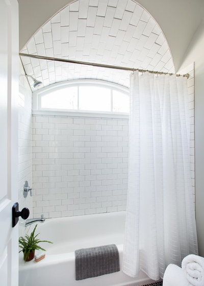 Transitional Bathroom by Terracotta Design Build