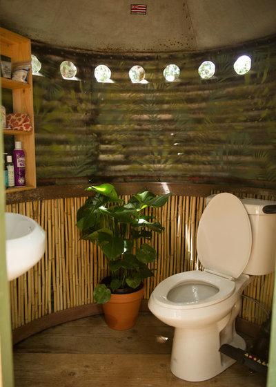 Tropical Bathroom by Ashley Camper Photography