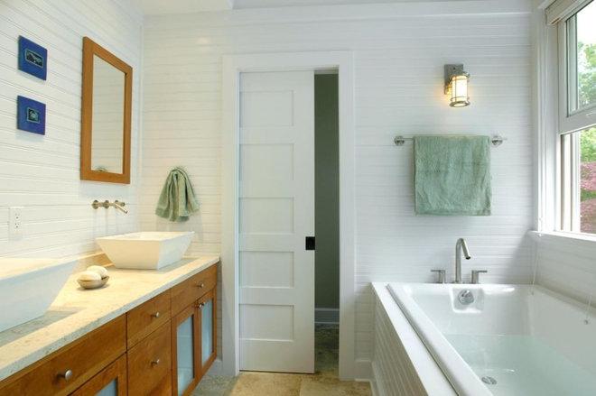 Beach Style Bathroom by Richard Bubnowski Design LLC