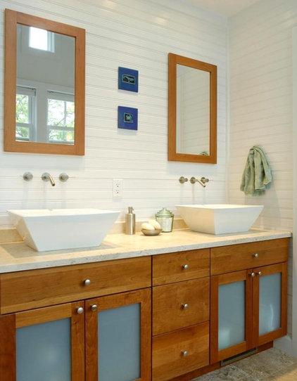 Craftsman Bathroom by Richard Bubnowski Design LLC