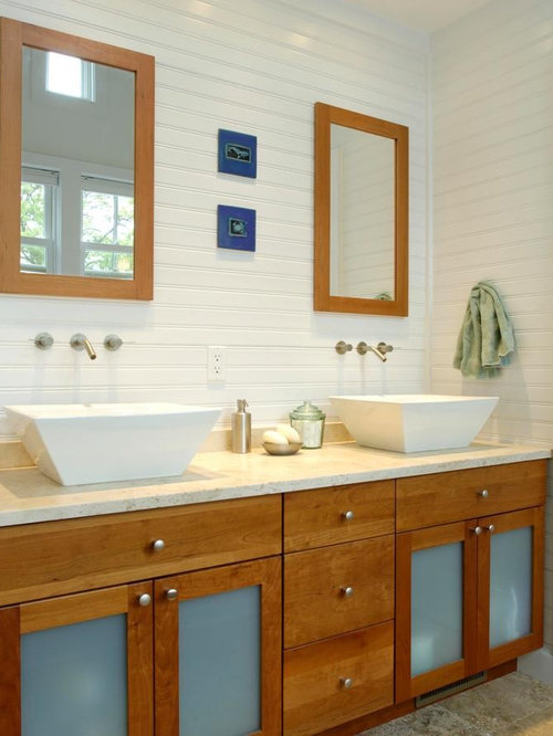 Horizontal beadboard houzz for Travertine eye drops