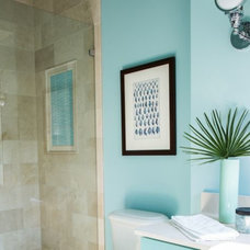 Transitional Bathroom by Margaret Donaldson Interiors