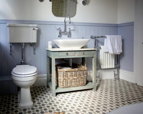 Piastrelle bagno shabby chic perfect immagine di una stanza da