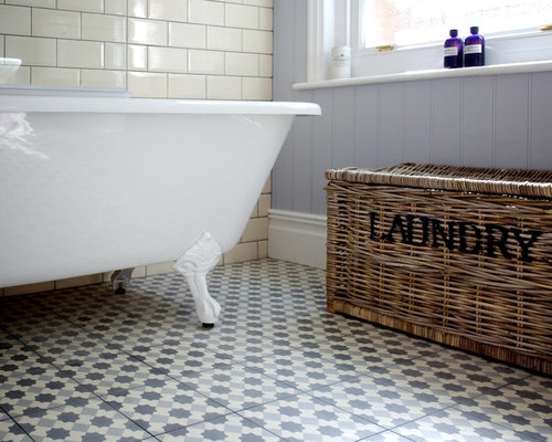 Traditional bathroom design ideas renovations photos for Shabby chic wall tiles