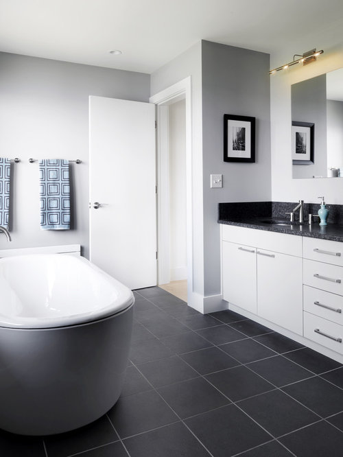 Master Bathroom Grey grey and white master bath | houzz