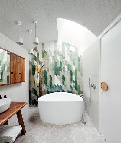 Contemporain Salle de Bain by Day Bukh Architects
