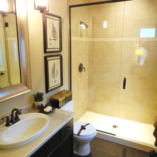 75 Beautiful Transitional Bathroom With Laminate ...