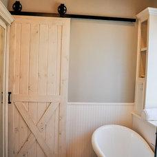 Farmhouse Bathroom by Heidi Arwine Interiors