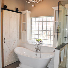 Farmhouse Bathroom by Heidi Arwine Interiors