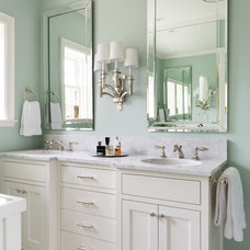 Transitional Bathroom by Cornerstone Construction Services LLC