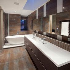 Contemporary Bathroom by Yael K Designs