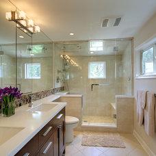Contemporary Bathroom by Anthony Wilder Design/Build, Inc.
