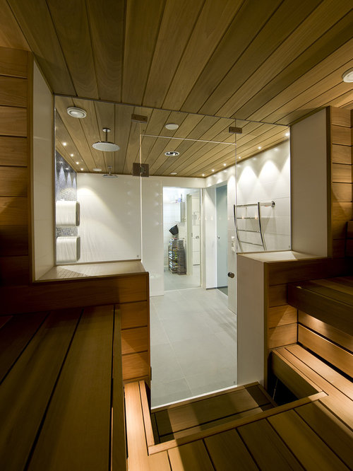 Small sauna ideas pictures remodel and decor for Sauna bathroom ideas
