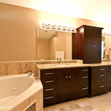 Contemporary Bathroom by Zelmar Kitchen Designs & More, LLC
