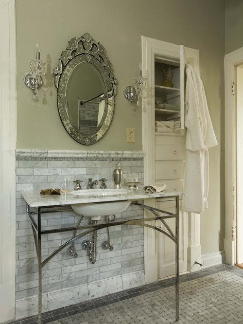 houzz  basket weave marble tile design ideas  remodel pictures, Home decor