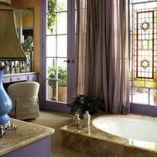 Mediterranean Bathroom by Peggy Braswell