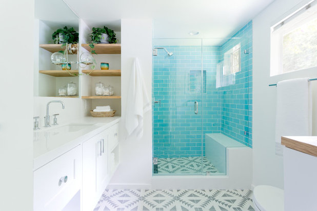 Transformation In Turquoise Brings Guest Bathroom To Life