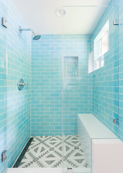 turquoise tiles bathroom transformation in turquoise brings guest bathroom to 14838