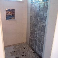 Asian Bathroom by NW HomeWorks