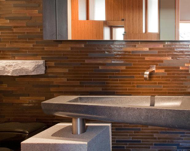 Rustic Bathroom by WA Design Architects