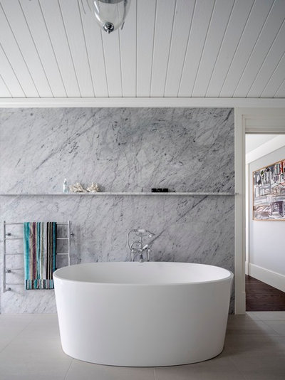 Beach Style Bathroom by Walter Barda Design