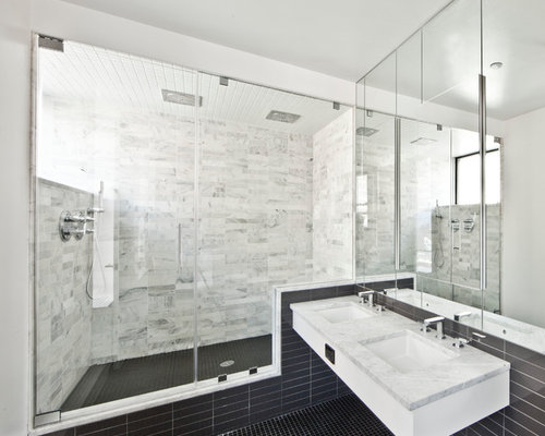 White Shower Floor Tile