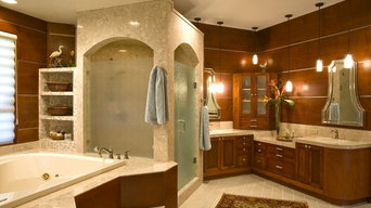 Tampa Wood Paneled Master Bath