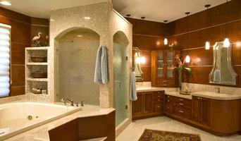 Tampa Wood Paneled Master Bath