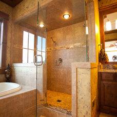 Farmhouse Bathroom by Toebben Builders