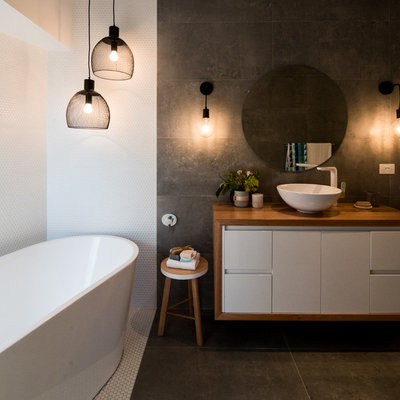 Contemporary Bathroom by IMATECH JOINERY SERVICES TASMANIA