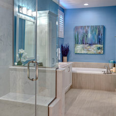Contemporary Bathroom by Room Resolutions