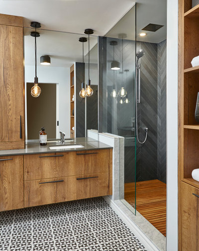 Contemporary Bathroom by Square Footage Inc.