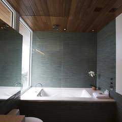 modern bathroom teal bath 1