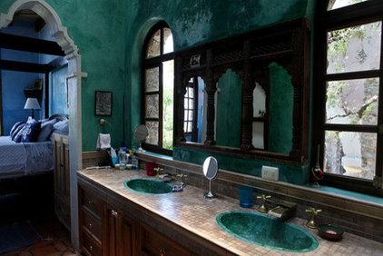 Eclectic Bathroom teal bathroom