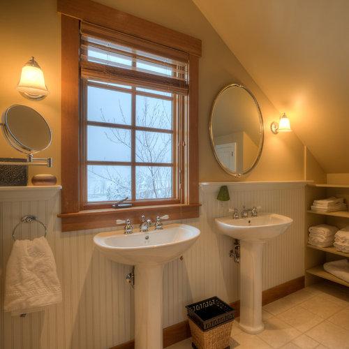 10 Steps Trimming Kitchen Peninsulas With Beadboard: Half Bath Wainscoting