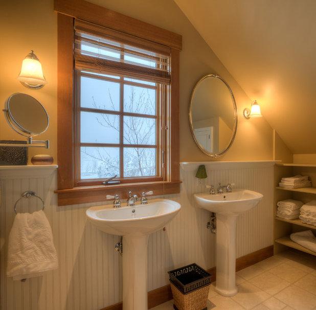 Farmhouse Bathroom by Dan Nelson, Designs Northwest Architects