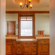 Farmhouse Bathroom by Dan Nelson, Designs Northwest Architects